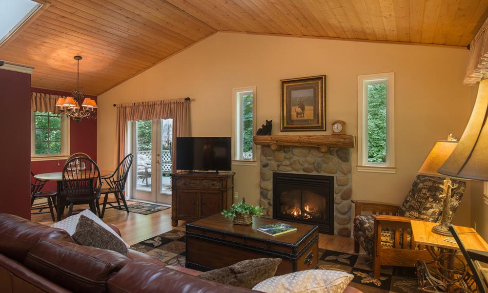 whimsical bear cottage livingroom