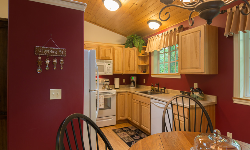 whimsical bear cottage kitchen