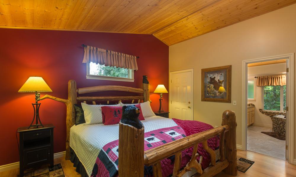 whimsical bear cottage bedroom