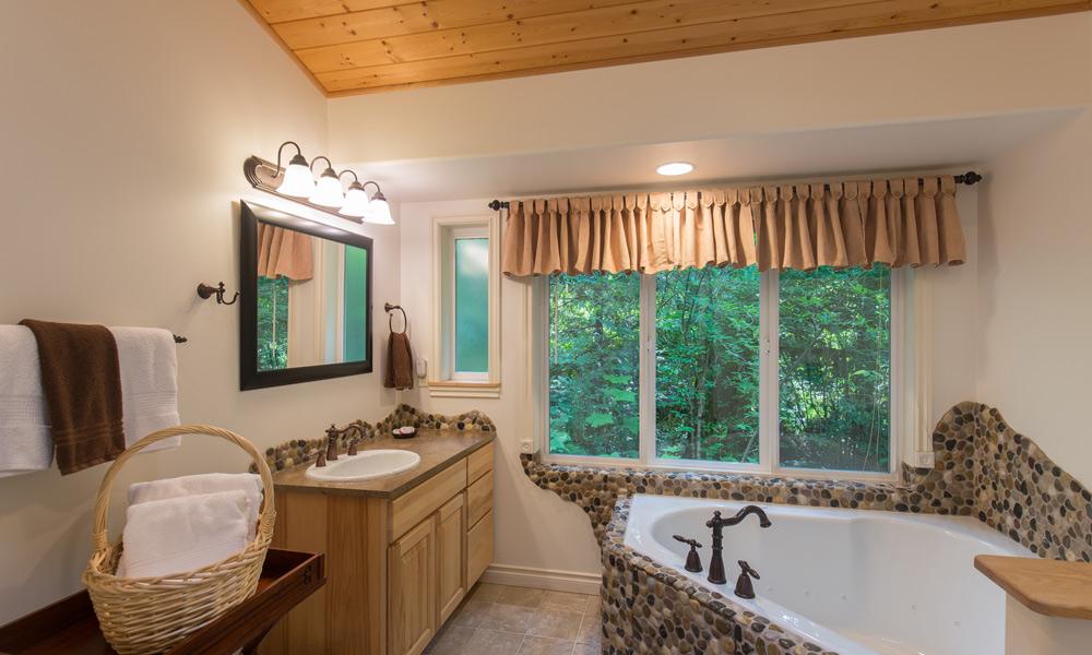 whimsical bear cottage bathroom