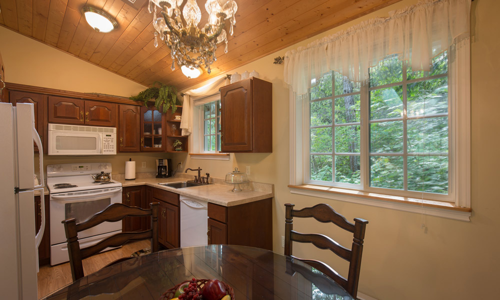 forest romance cottage dining room